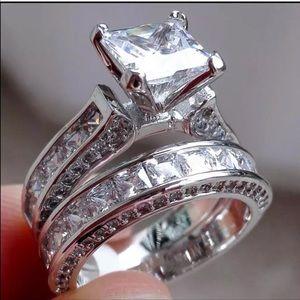 Jewelry - New 18 k white gold wedding ring set